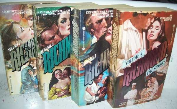Richmond set of 4 Volumes: 1-The Flame; 2-The Fire; 3-The Embers; 4-The Sparks (4 Books), Fritch, Elizabeth