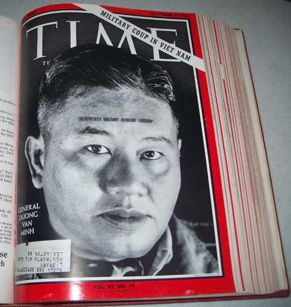 Time Magazine Volume 82, October-December 1963 Bound in One Volume, N/A