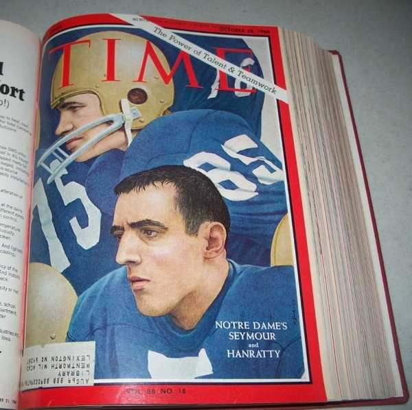 Time Magazine Volume 88, October-December 1966 Bound in One Volume, N/A