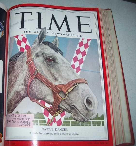 Time Magazine Volume 63, April-June 1954 Bound in One Volume, N/A