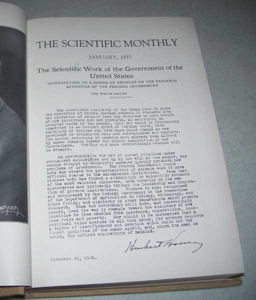 The Scientific Monthly Volume XXXVI, January-June 1933 Bound in One Volume, Cattell, J. McKeen (ed.)