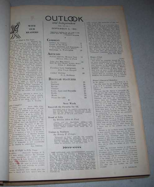 The Outlook and Independent (Magazine) Volume 159, September-December 1931 Bound in One Volume, Smith, Alfred E. (ed.)