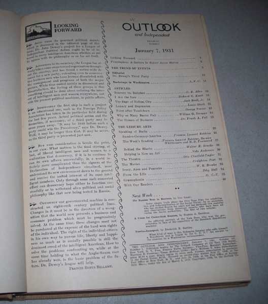 The Outlook and Independent (Magazine) Volume 157, January-April 1931 Bound in One Volume, Smith, Alfred E. (ed.)