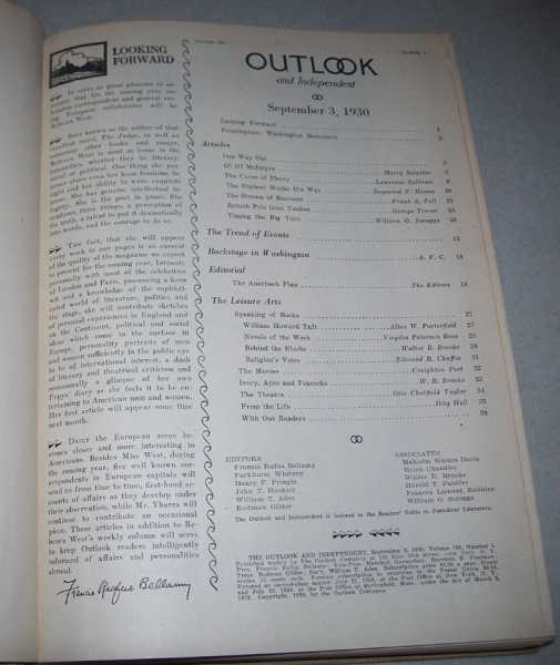 The Outlook and Independent (Magazine) Volume 156, September-December 1930 Bound in One Volume, Smith, Alfred E. (ed.)