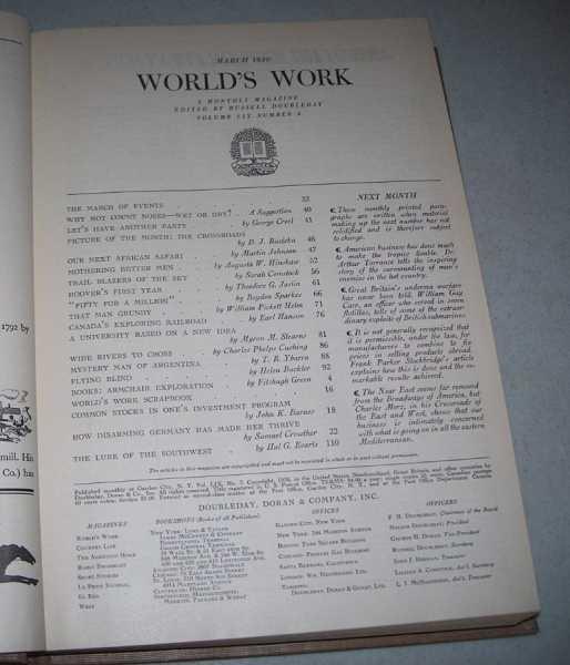 World's Work (Magazine) Volume 59, January-June 1930 Bound in One Volume, Various
