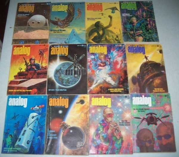 Analog Science Fiction/Science Fact Magazine Complete Set of 12 Issues from 1973, Various