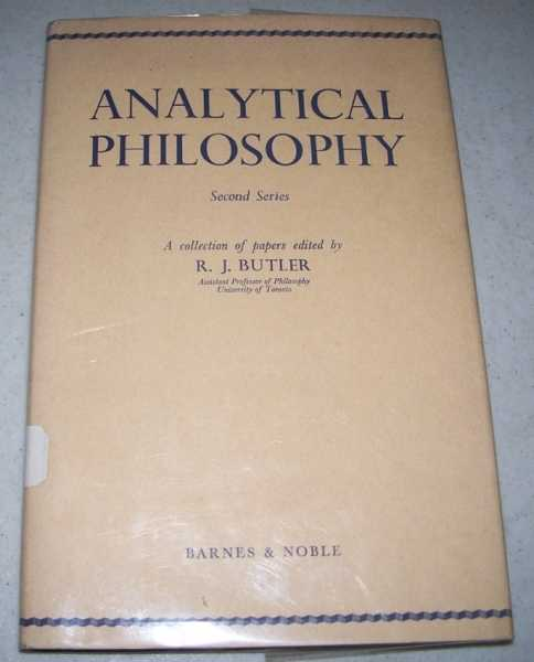 Analytical Philosophy, Second Series, Butler, R.J. (ed.)