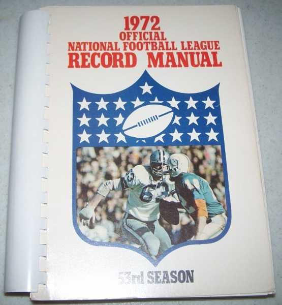1972 Official National Football League (NFL) Record Manual, N/A
