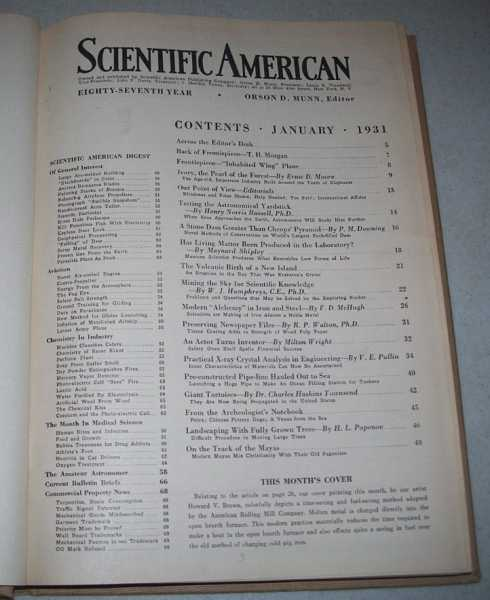 Scientific American Volume 144, January-June 1931 Bound in One Volume, N/A