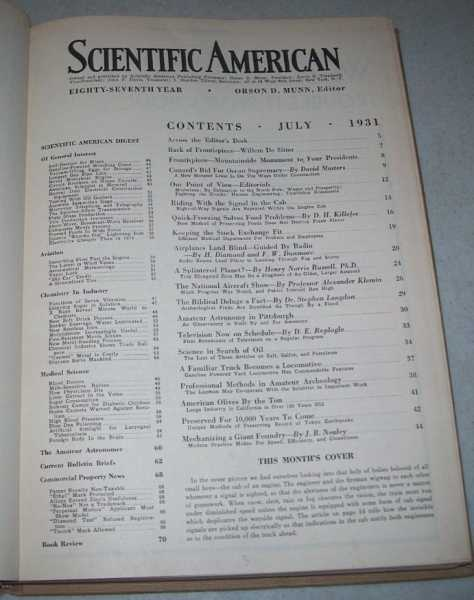 Scientific American Volume 145, July-December 1931 Bound in One Volume, N/A