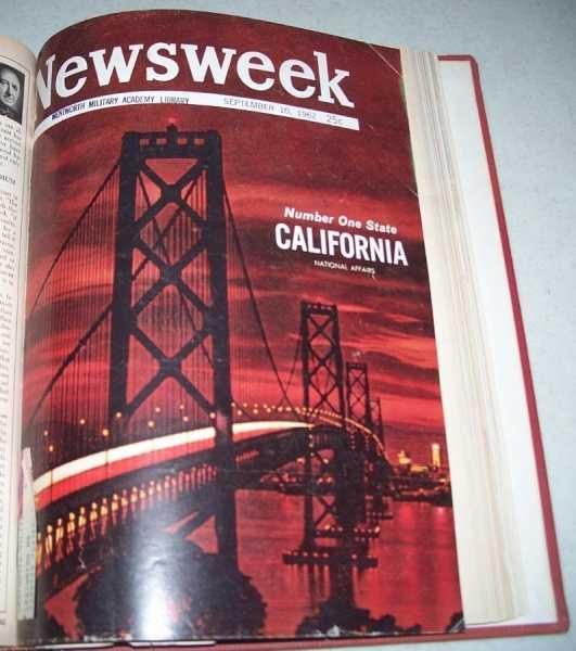 Newsweek Magazine Volume 60, July-September 1962 Bound in One Volume, N/A