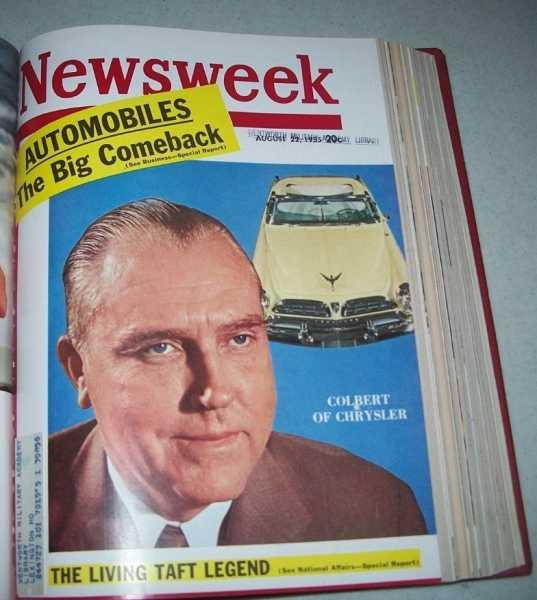 Newsweek Magazine Volume 46, July-September 1955 Bound in One Volume, N/A