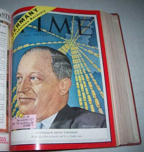 Time Magazine Volume 63, January-March 1954 Bound in One Volume, N/A