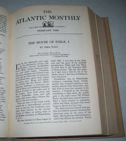 Atlantic Monthly Magazine Volume 151, January-June 1933 Bound Together, Various