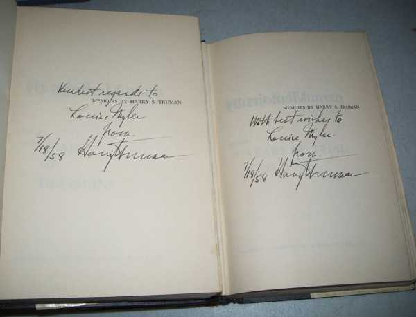Memoirs by Harry S. Truman in Two Volumes: Year of Decisions and Years of Trial and Hope, Truman, Harry S.