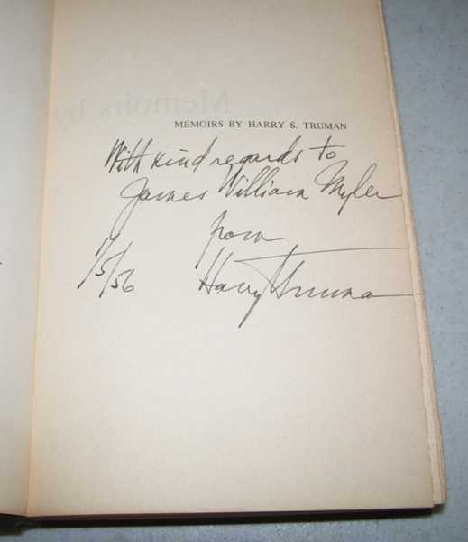 Memoirs by Harry S. Truman Volume One: Year of Decisions, Truman, Harry S.