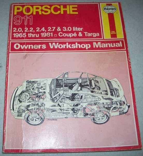 Porsche 911 Owners Workshop Manual: 2.0, 2.2, 2.4, 2.7 & 3.0 Liter, 1965 thru 1981, Coupe and Targa, Haynes, J.H. and Ward, Peter