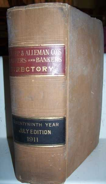 Sharp & Alleman Co's Lawyers and Bankers Directory for 1911, July Edition, Sharp & Alleman