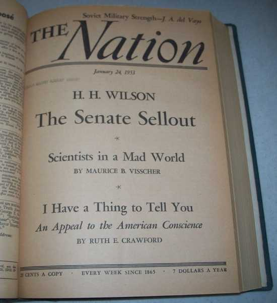 The Nation (America's Leading Liberal Weekly Newspaper) Volume 176, January-June 1953 Bound in One Volume, N/A
