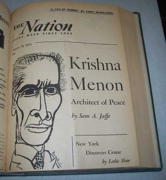 The Nation (America's Leading Liberal Weekly Newspaper) Volume 179, July-December 1954 Bound in One Volume, N/A