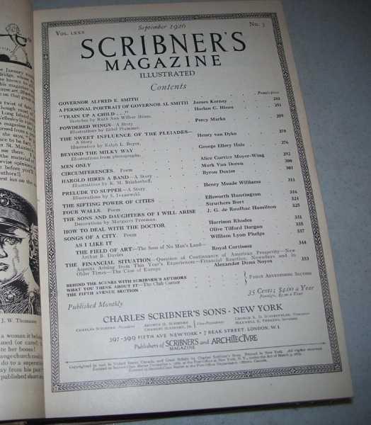 Scribner's Magazine Volume 80, July-December 1926 Bound in One Volume, N/A