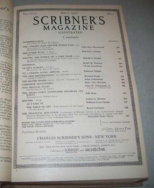 Scribner's Magazine Volume 79, January-June 1926 Bound in One Volume, N/A
