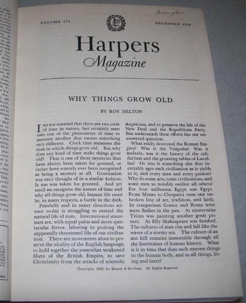 Harper's Magazine Volume 174, December 1936-May 1937 Bound in One Volume, N/A
