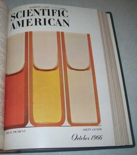 Scientific American Magazine Volume 215, July-December 1966 (missing September) Bound in One Volume, N/A