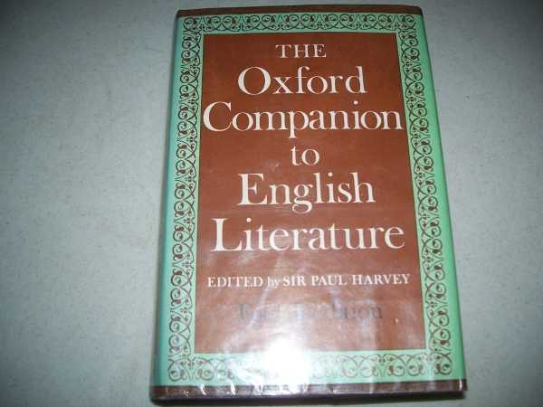 The Oxford Companion to English Literature, Fourth Edition, Harvey, Sir Paul (ed.)