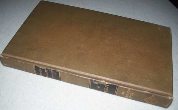Transactions of the Faraday Society Volume VI, 1910, N/A