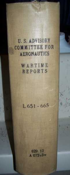National Advisory Committee for Aeronautics (NACA) Wartime Report L651-L665, Various