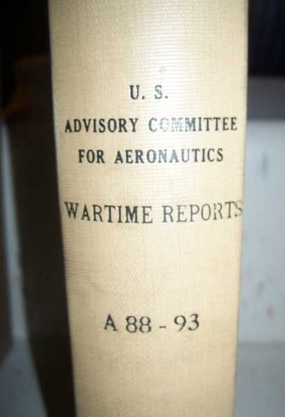 National Advisory Committee for Aeronautics (NACA) Wartime Report A88-A93, Various