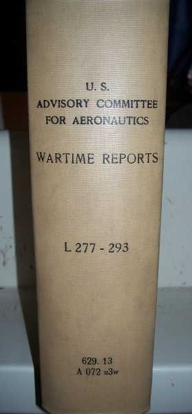 National Advisory Committee for Aeronautics (NACA) Wartime Report L277-L293, Various