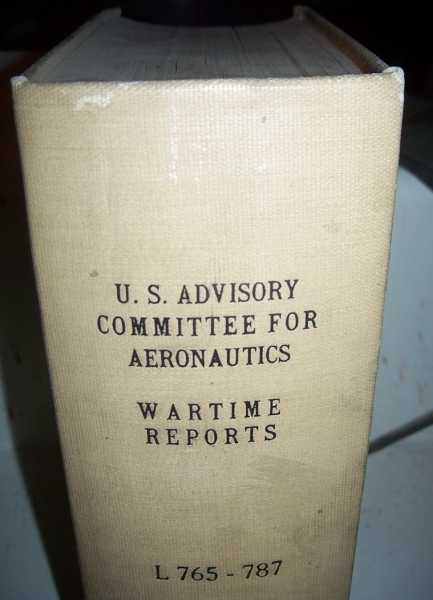 National Advisory Committee for Aeronautics (NACA) Wartime Report L765-L787, Various