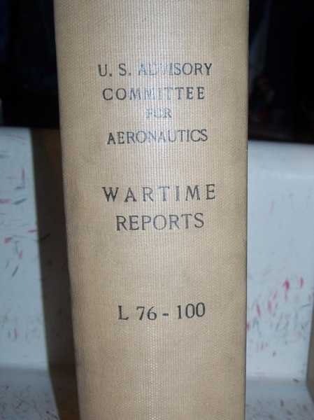 National Advisory Committee for Aeronautics (NACA) Wartime Report L76-L100, Various