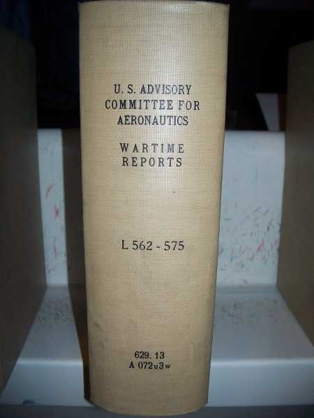 National Advisory Committee for Aeronautics (NACA) Wartime Report L562-L575, Various