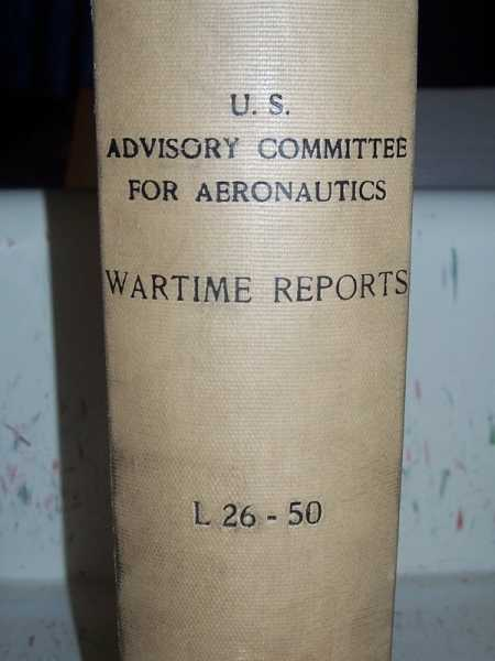 National Advisory Committee for Aeronautics (NACA) Wartime Report L26-L50, Various