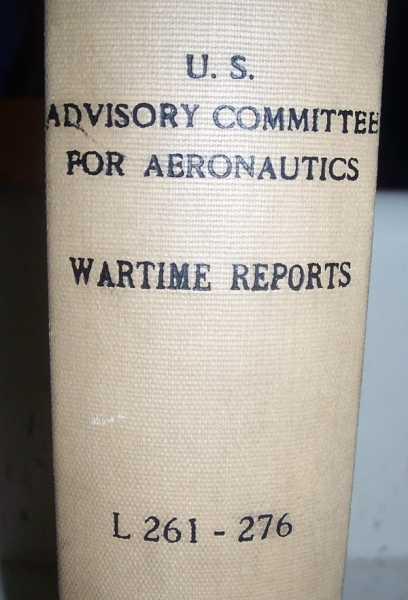 National Advisory Committee for Aeronautics (NACA) Wartime Report L261-L276, Various