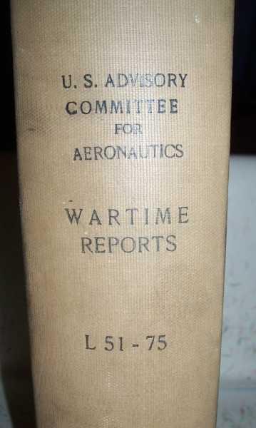 National Advisory Committee for Aeronautics (NACA) Wartime Report L51-L75, Various
