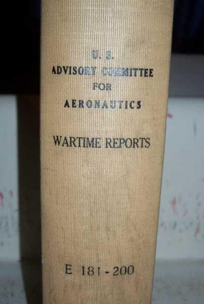 National Advisory Committee for Aeronautics (NACA) Wartime Report E181-E200, Various