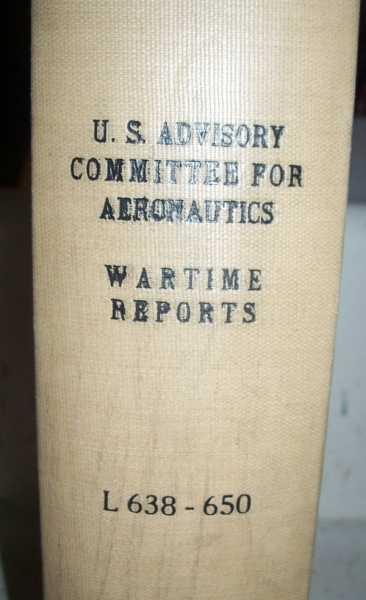 National Advisory Committee for Aeronautics (NACA) Wartime Report L638-L650, Various