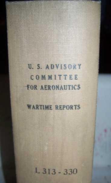 National Advisory Committee for Aeronautics (NACA) Wartime Report L313-L330, Various