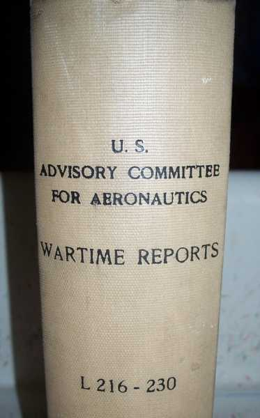 National Advisory Committee for Aeronautics (NACA) Wartime Report L216-L230, Various