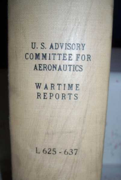 National Advisory Committee for Aeronautics (NACA) Wartime Report L625-L637, Various