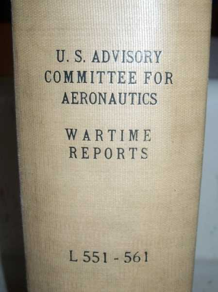 National Advisory Committee for Aeronautics (NACA) Wartime Report L551-L561, Various