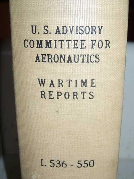 National Advisory Committee for Aeronautics (NACA) Wartime Report L536-L550, Various