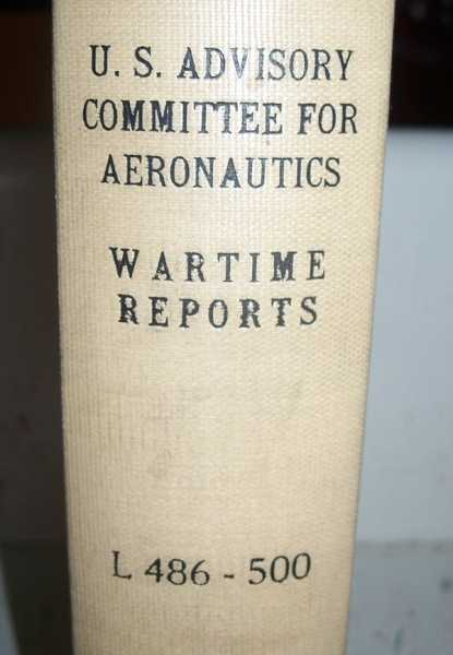 National Advisory Committee for Aeronautics (NACA) Wartime Report L486-L500, Various