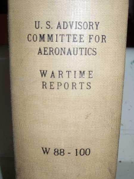 National Advisory Committee for Aeronautics (NACA) Wartime Report W88-W100, Various