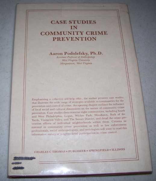 Case Studies in Community Crime Prevention, Podolefsky, Aaron