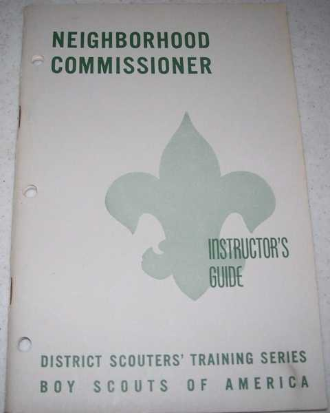Neighborhood Commissioner Instructor's Guide, N/A